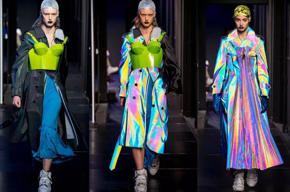 rainbow reflective fabric cloth