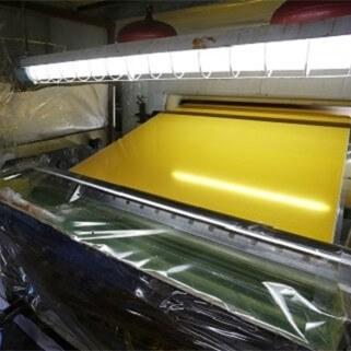 Reflective sheeting adhesive coating station_副本