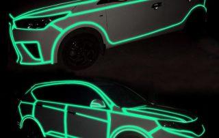 refelctive car sticker