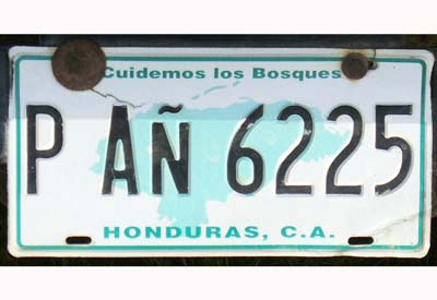 license plate reflective film for Honduras XW8200