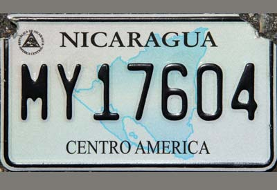reflective license plate film for Nicaragua XW8200