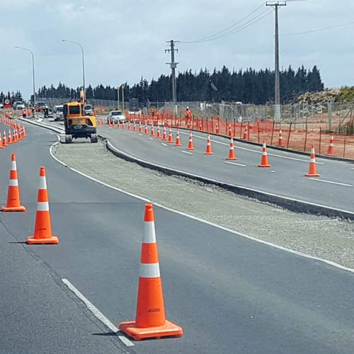 retroflective sheeting for traffic cones and accessories