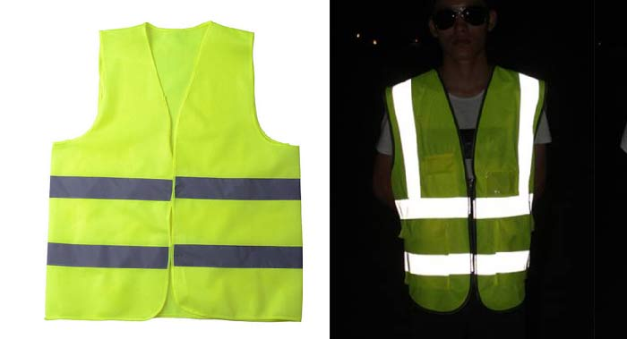 safety vest in day and night