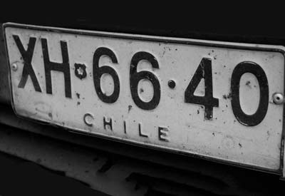 white reflective license plate frame sheeting for Chile