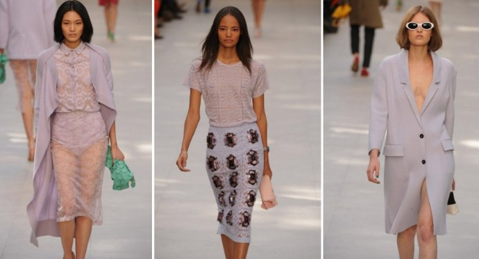 Burberry lilac lace, Burberry SS14 LFW London Fashion Week