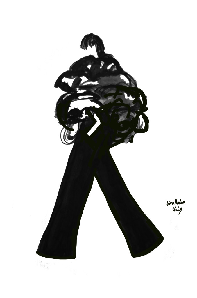 John Rocha Fashion Week Illustration