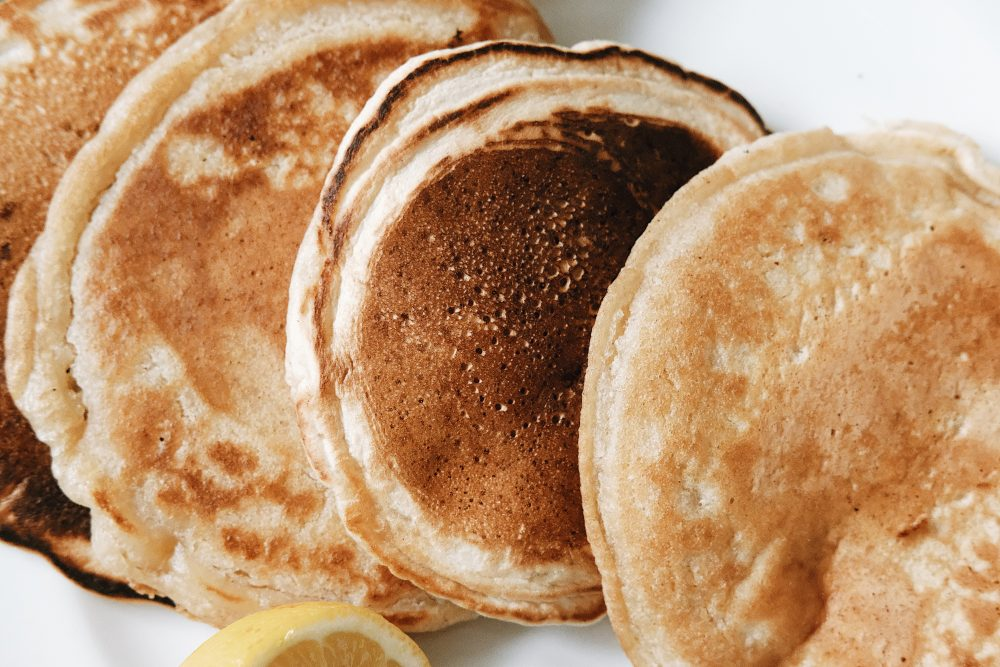 fluffy vegan pancakes, eggless pancakes, ngoni pancakes