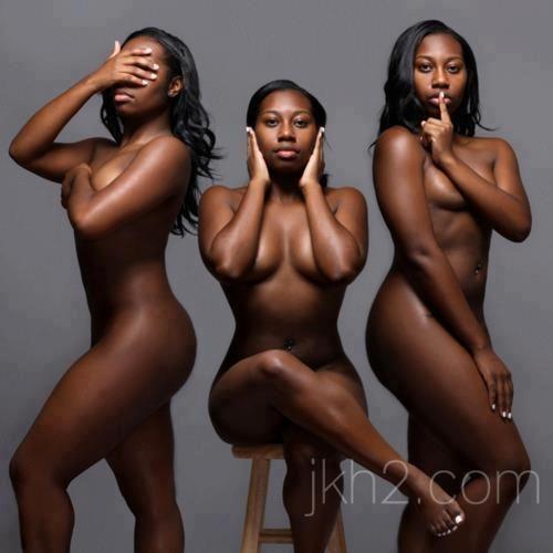 Naked women open the door