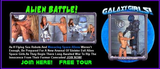 Alien Battle with lesbian warriors
