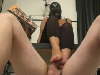 Floor foot slave foot job with Mistress Denya