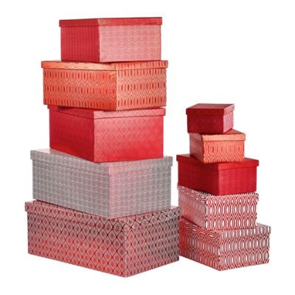 Geschenkboxen-Set von XXXL 10-teilig in rot - nur 39,99€