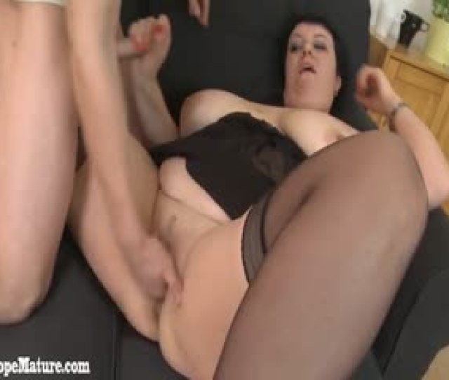 Horny Young Boy With Big Dick Fucks Fat Mature Woman