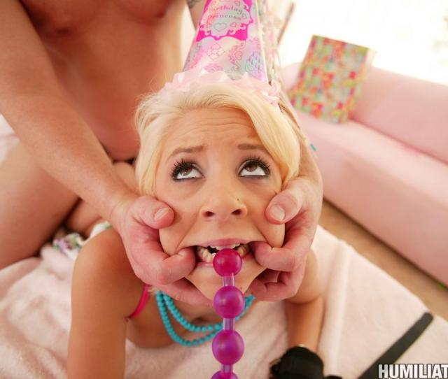 Pink Pussied Blonde Girl Tessa Taylor Gets Humiliated And Fucked On Her Birthday
