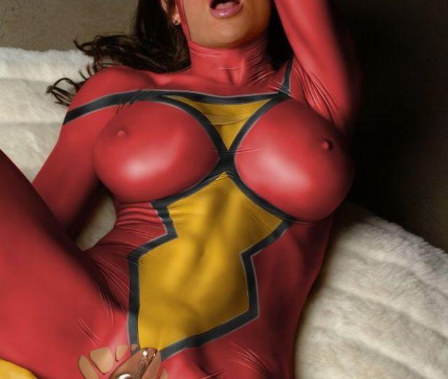 Spider Woman Superhero Dildo Pussy Masturbation Porn Cosplay Sexy Hardcore Costu