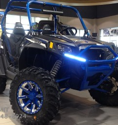 integrated led brush guards front or rear rzr 570 800 900 [ 1440 x 900 Pixel ]