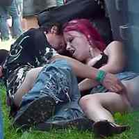Drunk Slut Fucking at the Rock Festival - Voyeur Video
