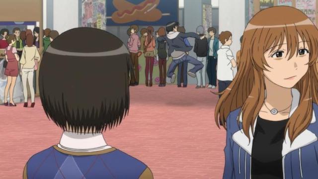 Hato face à son idole du lycée.
