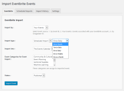 Eventbrite Import for your profile Events(Pro)