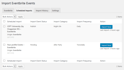 Scheduled Eventbrite Imports (Pro).