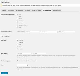 Delete posts by custom fields.