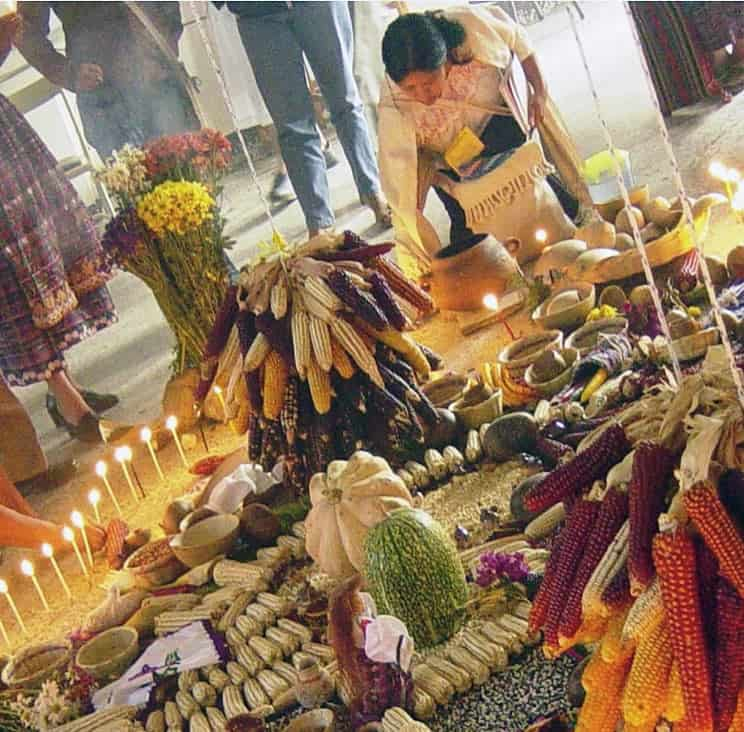 offerings for the dead during the celebrations of the Day of the Dead