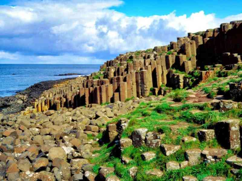 Driving the Northern Irish coast road the Giant's causeway