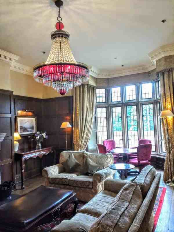 the beautiful lounge of the Solis Lough Eske Castle Hotel