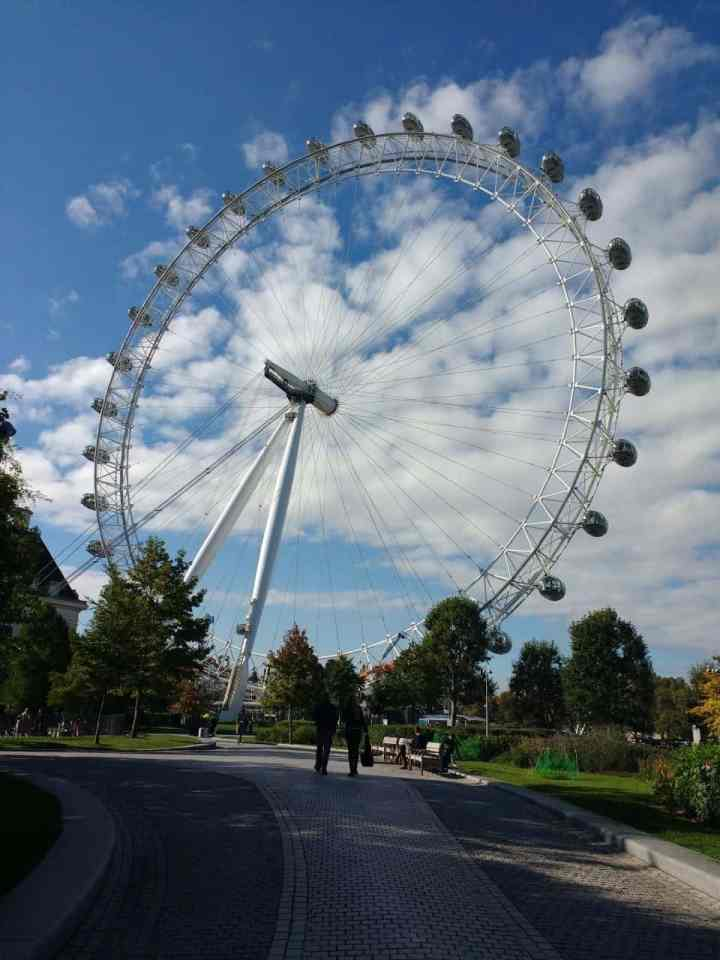 the London Eye from a distance