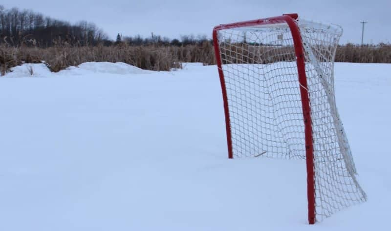 hockey only in Canada, anytime, anywhere, anyplace, any weather