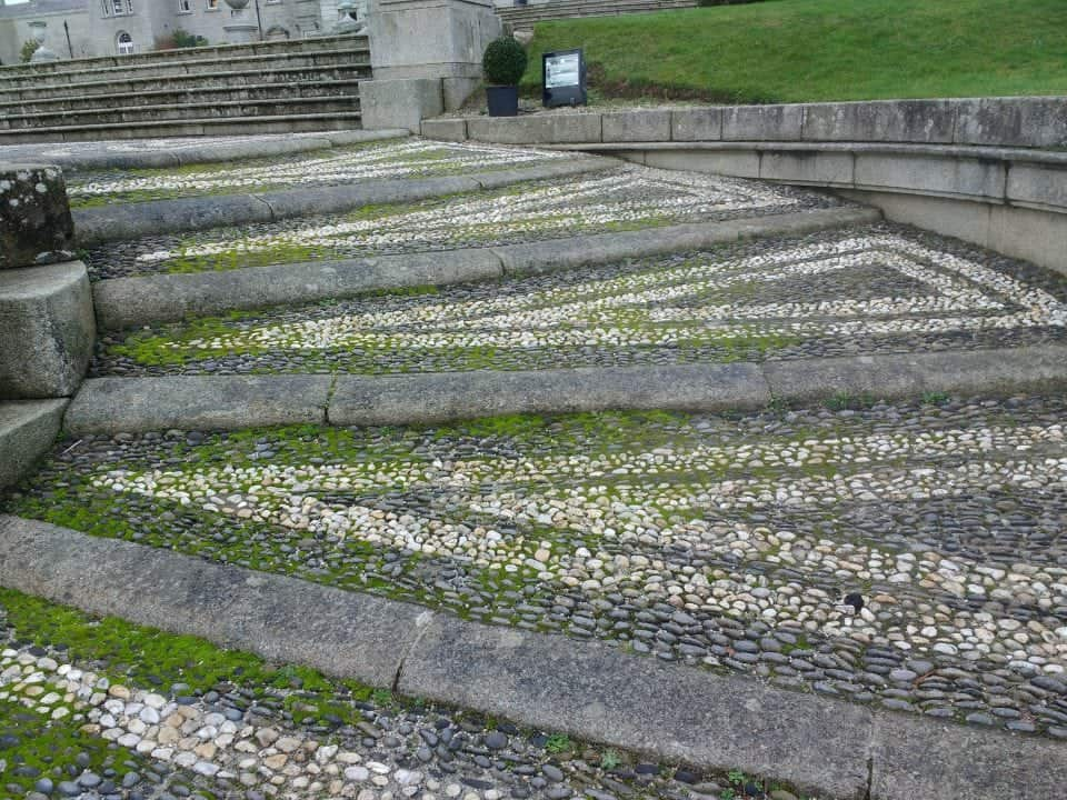 pebble mosaic paths at Powerscourt