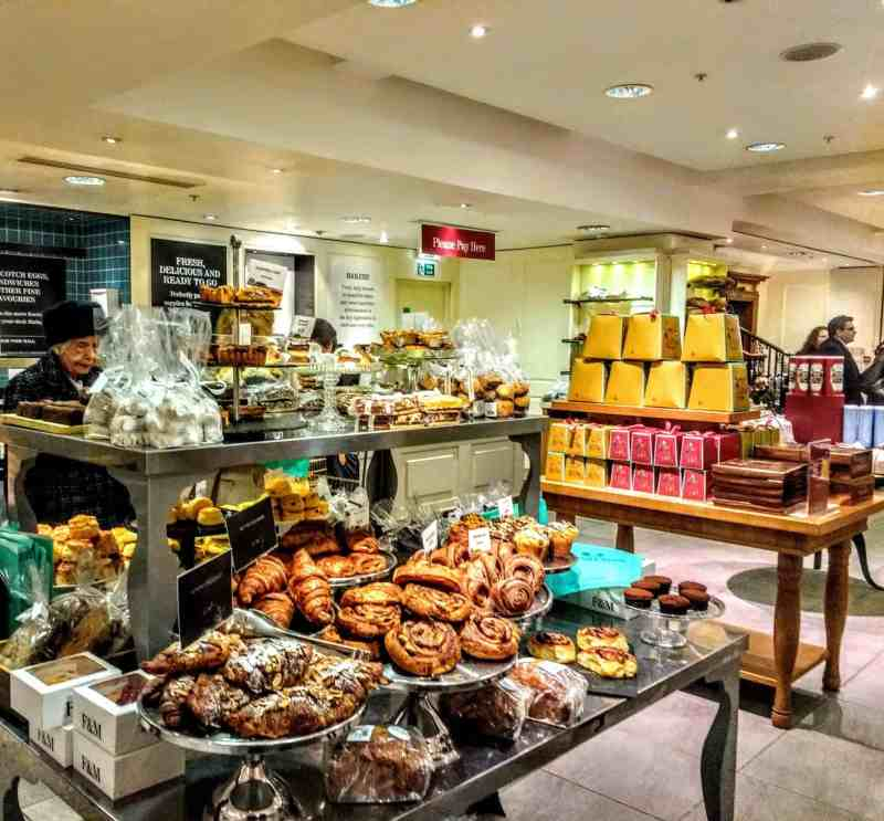 patisserie selection at Fortnum's Food Hall