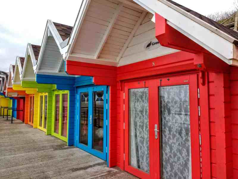 beach huts in Scarborough Yorkshire