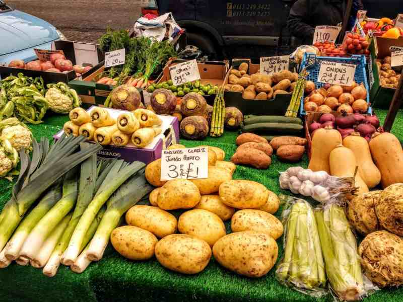 fruit and veg at the market in Pickering Yorkshire