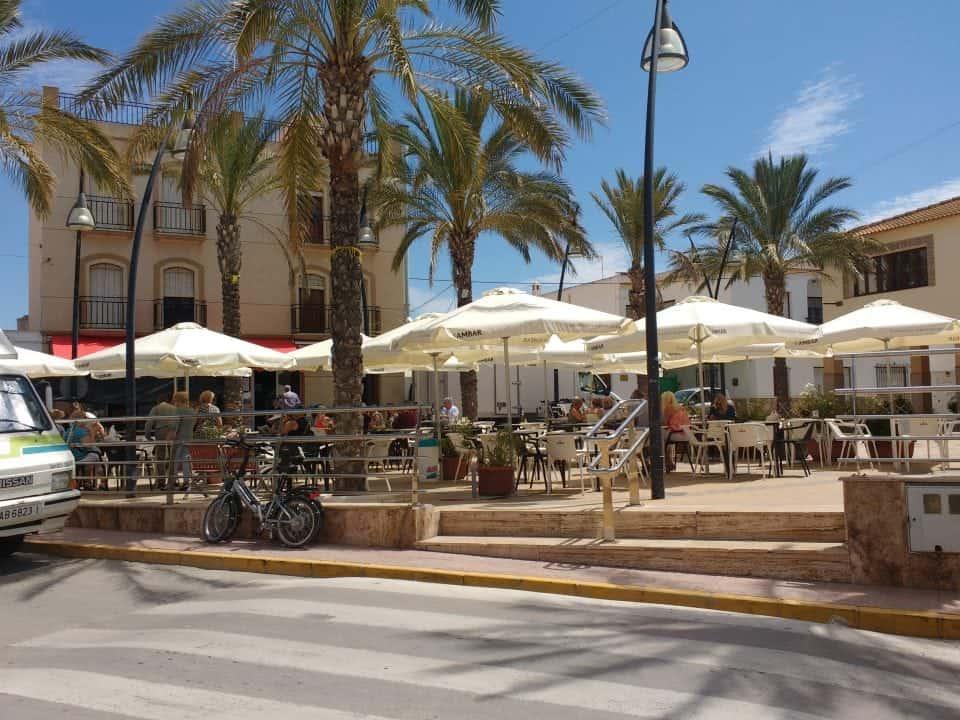 Palomares town square on the Costa de Almeria