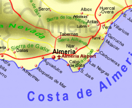 Mojacer the villages of the costa de almeria what to see do - Costa sol almeria ...