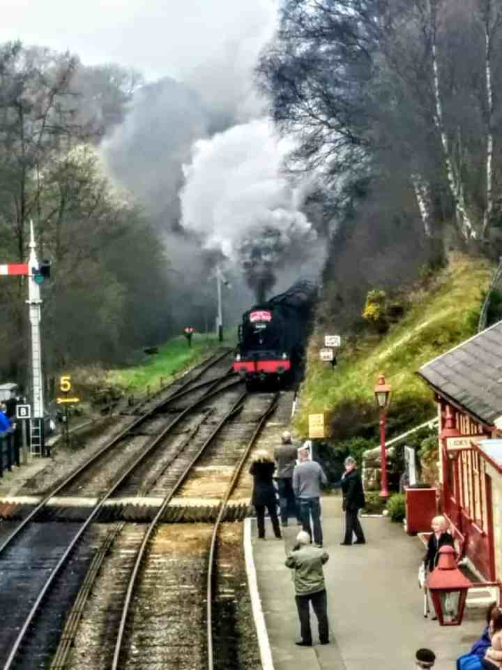 North Yorkshire Moors steam train to Hogsmeade #hogwarts #harrypotter #steamtrains #NYMR #Yorkshire #visitYorkshire #england #visitEngland #NorthernEngland #themoors #York #vikings #heritagetrains #goathland