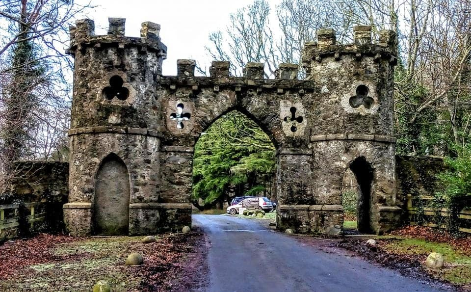 The entrance gates to the Tollymore Forest