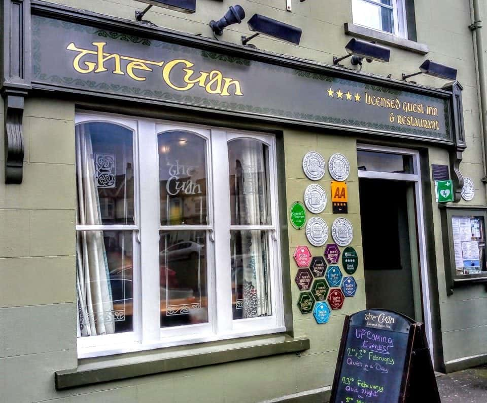 exterior of the Cuan a fabulous B&B and place for a break on your Game of Thrones Door of County Down. It's in Strangford and the food is excellent