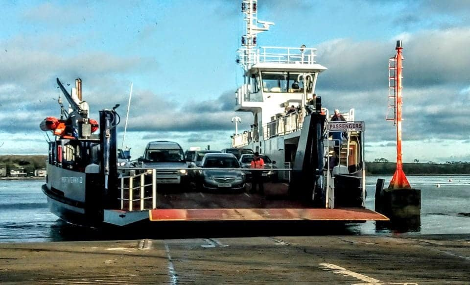 The Strangford Lough Ferry in N. Ireland - we rented a car in Ireland and drove across the water