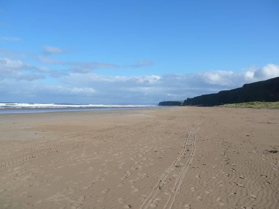 a beautiful beach called Downhill strand on the Causeway Coast of Ireland