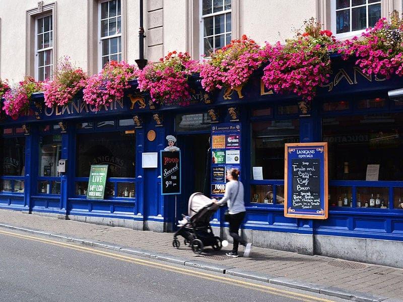 walking down the pretty streets of Kilkenny Ireland's Historic Heartlands