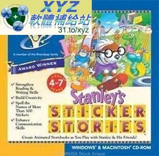 EDMARK系列 英語幼教軟件 Stanley's Sticker Stories 英文語言字幕版(幼兒教學)(MP3有聲導讀)(適用任何家用DVD播放機 ...
