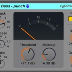 Live9のエフェクトを遊ぶ。25『Bass - punch』