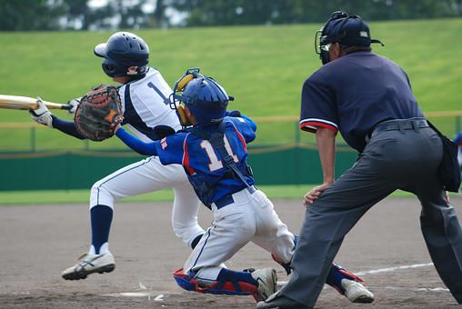 少年野球の風景の画像