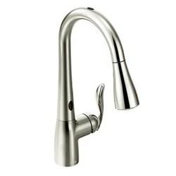 pull out kitchen faucets towels bulk moen摩恩7594ec arbor with motionsense单柄高弧度可拔出式厨房水龙头 2002 2054 290 52 约1952 35元
