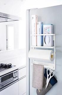 kitchen magnets tiny table yamazaki 山崎实业厨房置物架 山崎实业厨房用纸支架磁铁型