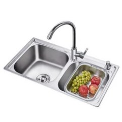 42 Inch Kitchen Sink Tuscan Design 卡贝 Cobbe 水槽加厚304不锈钢厨房水槽双槽洗菜盆洗手盆800mm大双槽 配 水槽加厚304不锈钢厨房水槽双槽洗菜