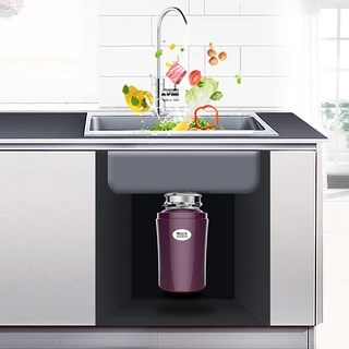 kitchen trash grohe faucets repair edison 爱迪生x60垃圾处理器 爱迪生x60 厨房垃圾处理器紫色 报价价格