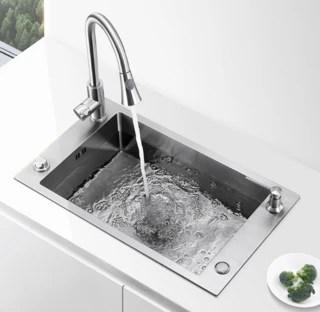 ebay kitchen sinks cupboard kraus 克劳思水槽 ckhu100 28 304不锈钢厨房水槽1 5mm 报价价格 higold 悍高简硕952119 手工单槽配抽拉龙头