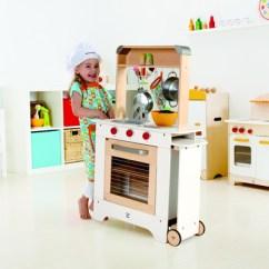 Hape Kitchen Brushed Nickel Faucet Hape厨房餐车 充满奇趣的美食之旅 厨房餐车 凤凰时尚 Hape厨房